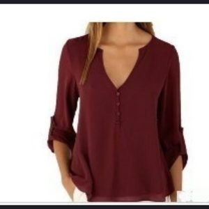 Tops - Sheer Blouse with button accents